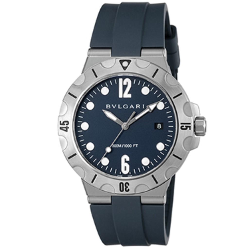 【72時間限定ポイント5倍】BVLGARI ブルガリ 腕時計 メンズ ディアゴノプロフェッショナル ブラック DP41C3SVSD