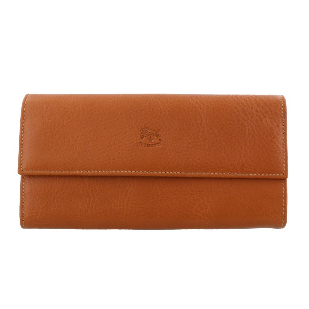 IL BISONTE イルビゾンテ 長財布 メンズ レディース ブラウン C0918-P 145 CARAMEL