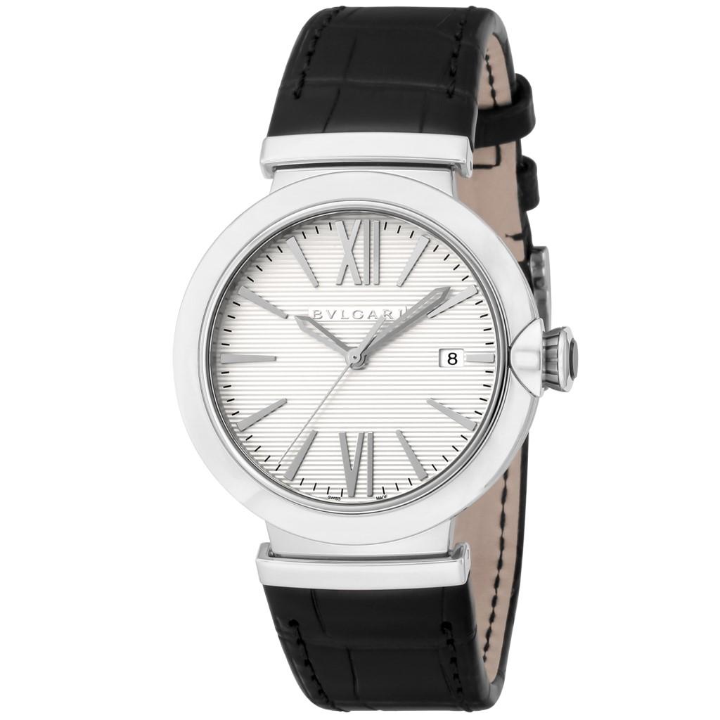 【48時間限定ポイント10倍 5/13 9:59まで】BVLGARI ブルガリ 腕時計 メンズ ルチェア シルバー LU40C6SLD