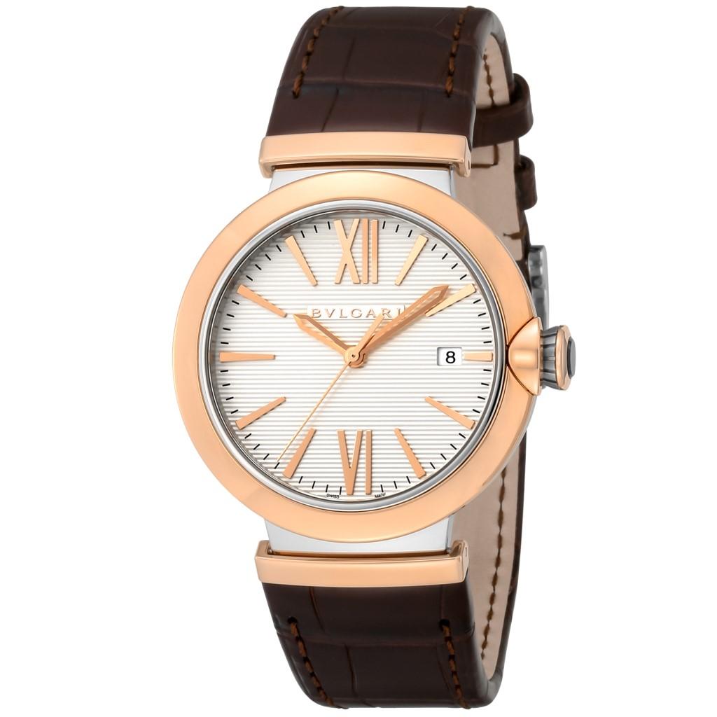 【72時間限定ポイント5倍】BVLGARI ブルガリ 腕時計 メンズ ルチェア シルバー LU40C6SPGLD