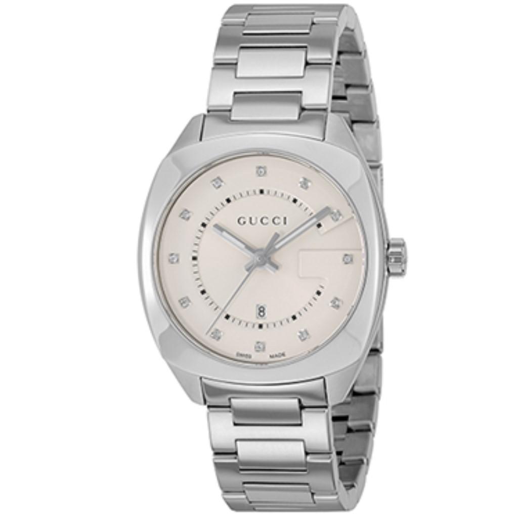 【期間限定ポイント10倍】グッチ 腕時計 レディース GUCCI GG2570 ホワイト YA142403