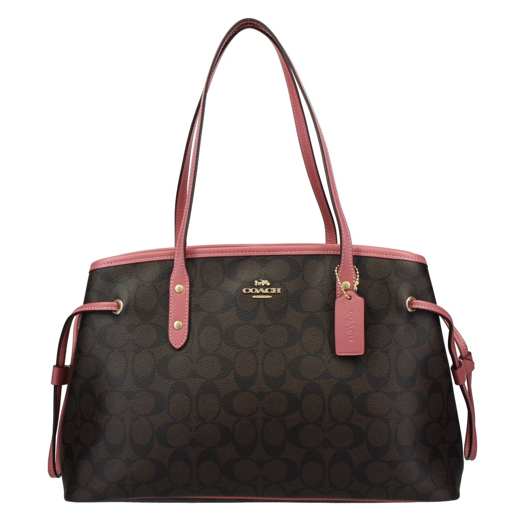 COACH OUTLET コーチ アウトレット トートバッグ シグネチャー ブラウン ローズピンク F57842 IMO67