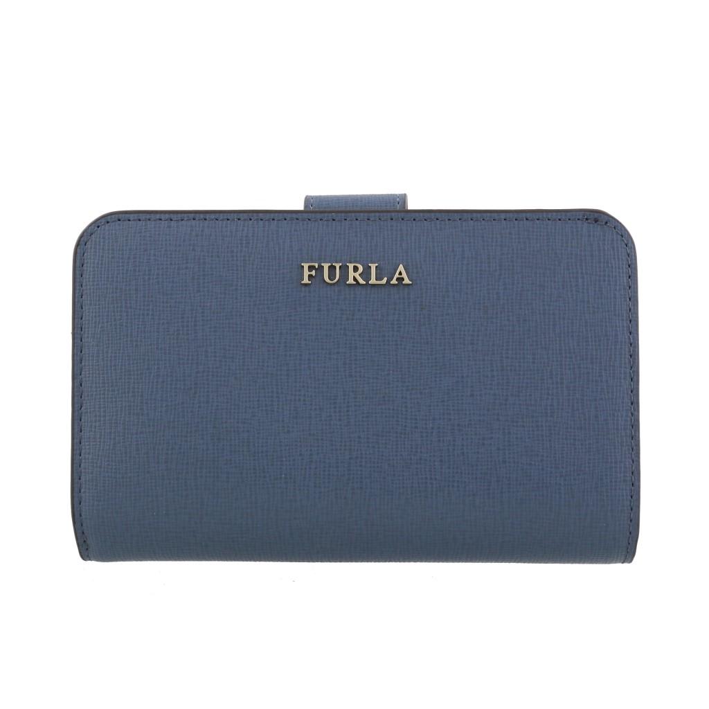 FURLA フルラ 二つ折り財布 レディース バビロン ブルー 1006817 PR85 COLOR PIOMBO