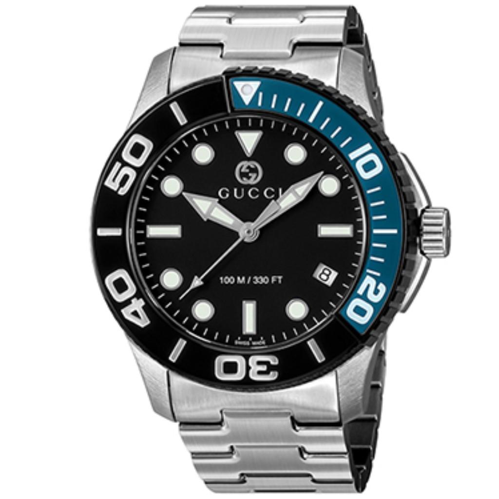 【期間限定ポイント10倍】グッチ 腕時計 メンズ GUCCI ダイバー ブラック YA126281