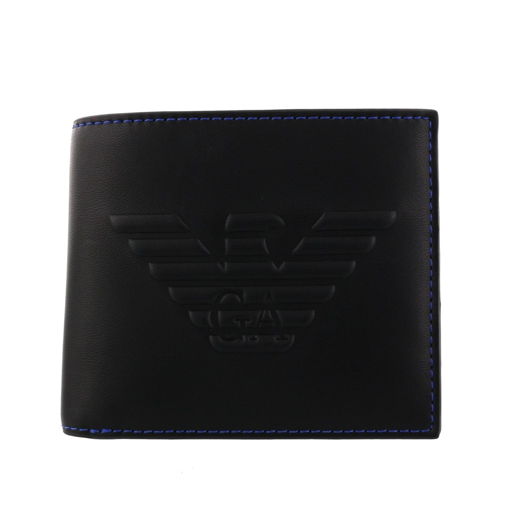 【期間限定ポイント5倍】エンポリオアルマーニ 二つ折り財布 メンズ ブラック Y4R167 YG90J 81072