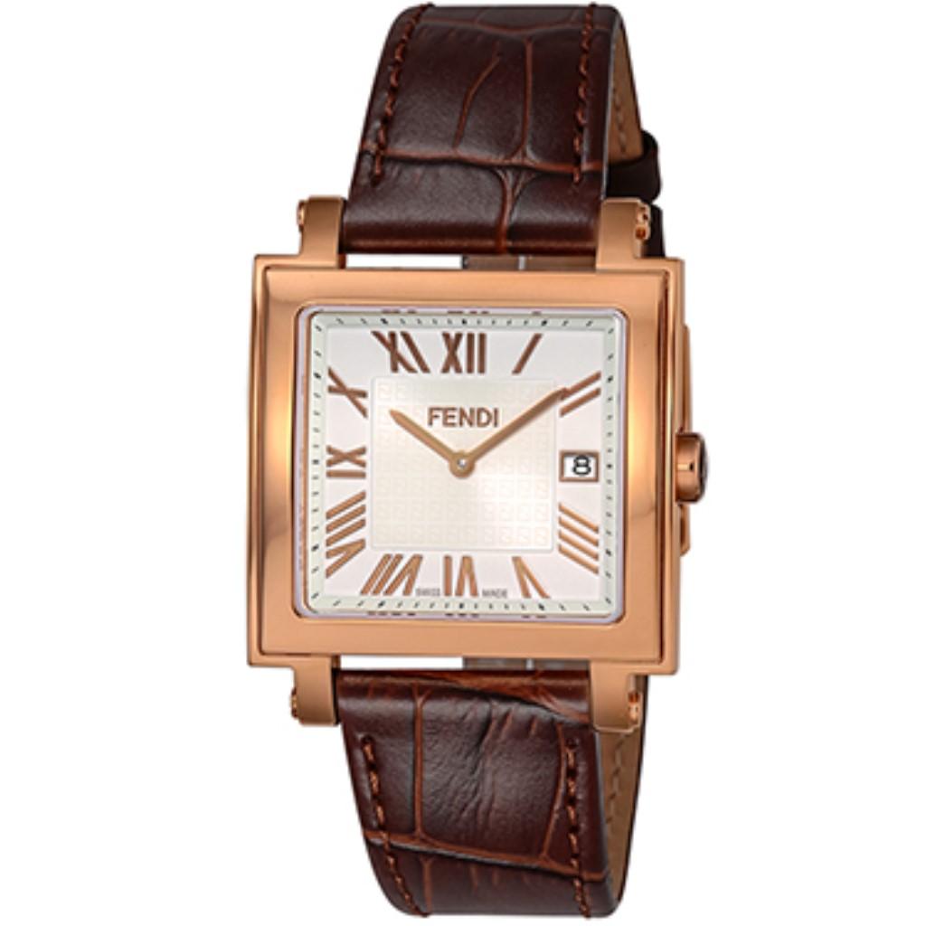 【72時間限定ポイント5倍】FENDI フェンディ 腕時計 メンズ QUADORO MEN ホワイト F604514021