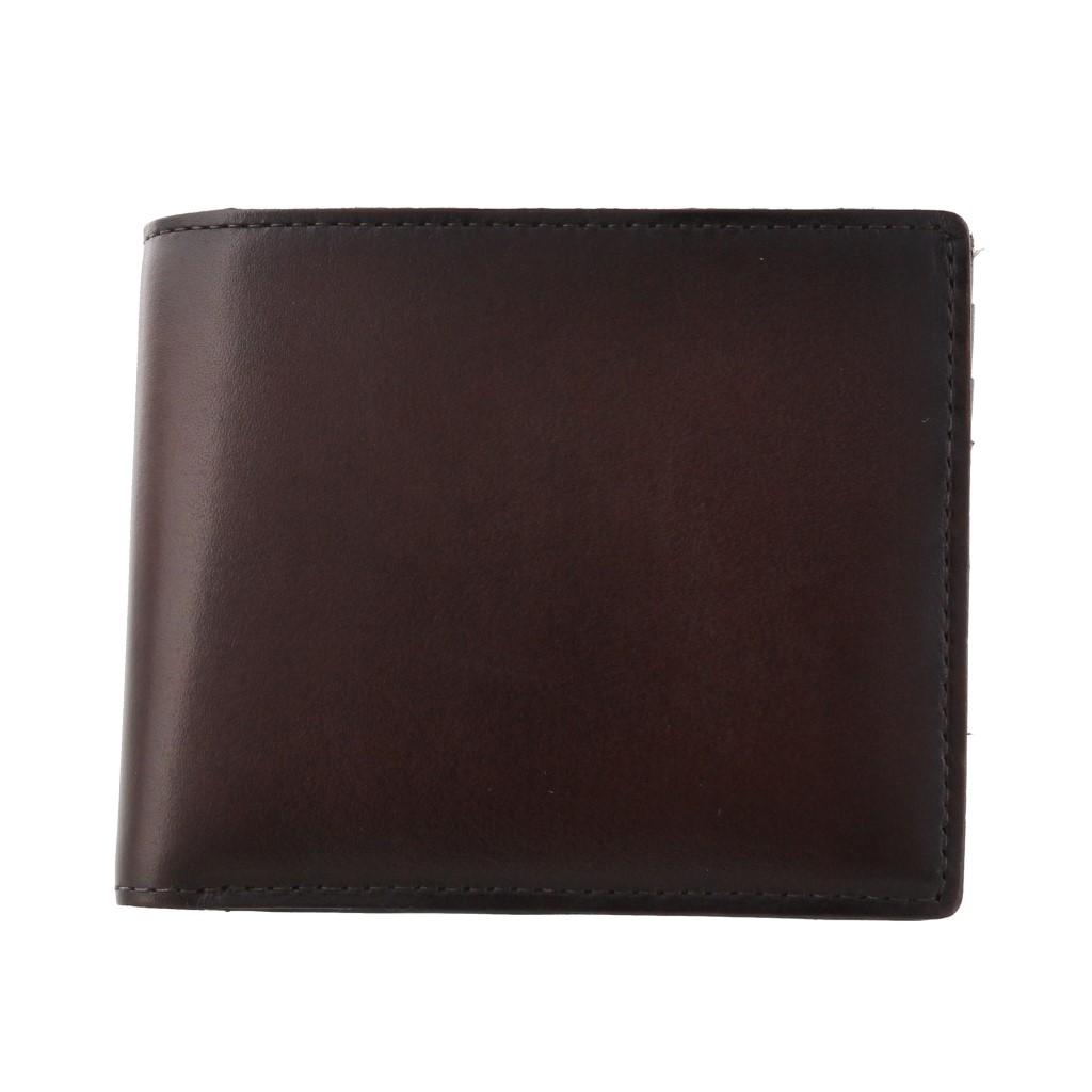 Pomerance ポメランジェ 二つ折り財布 リアルパティーヌ ダークブラウン RP02 D.BROWN