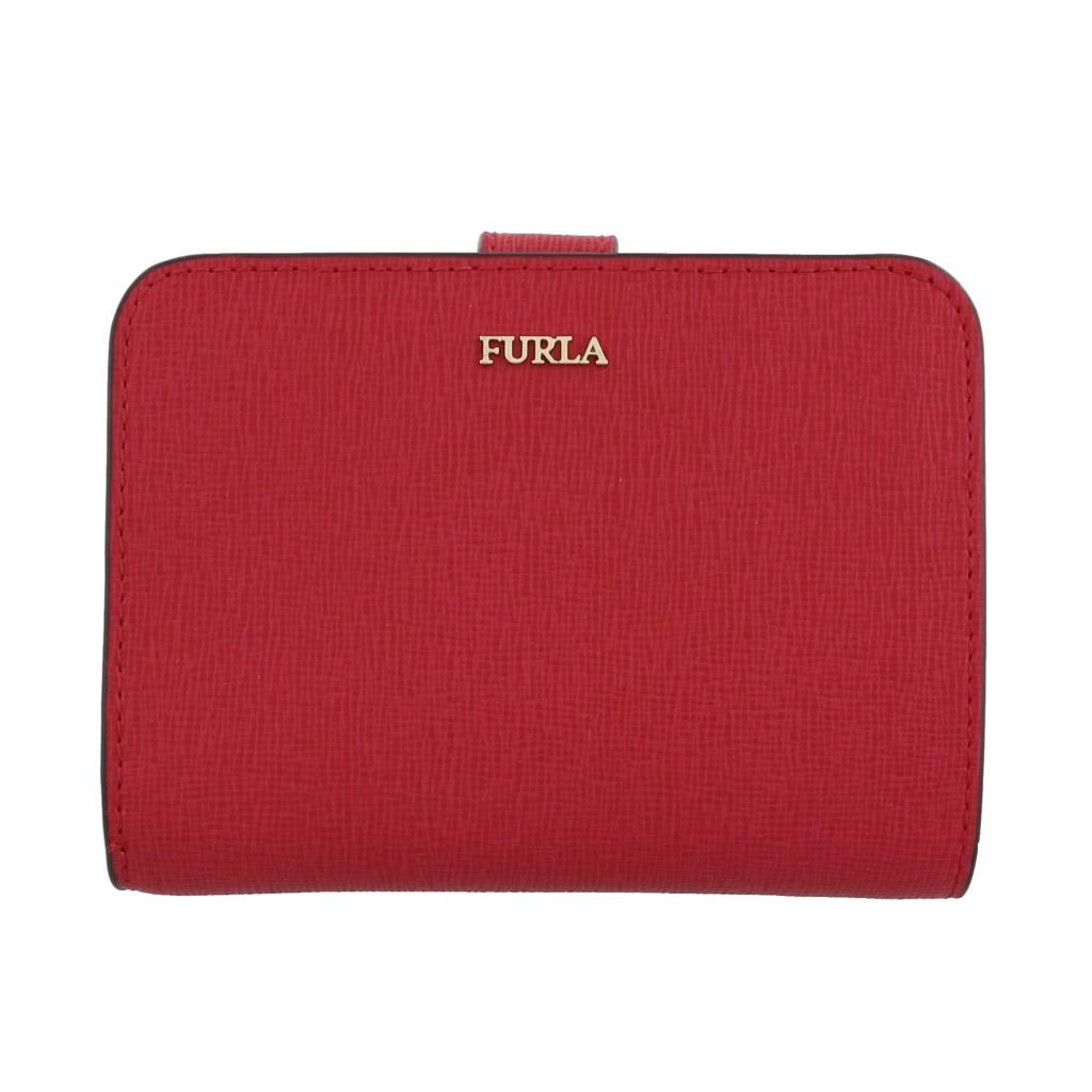 FURLA フルラ 二つ折り財布 レディース バビロン レッド 1000420 PBF8 RUBY