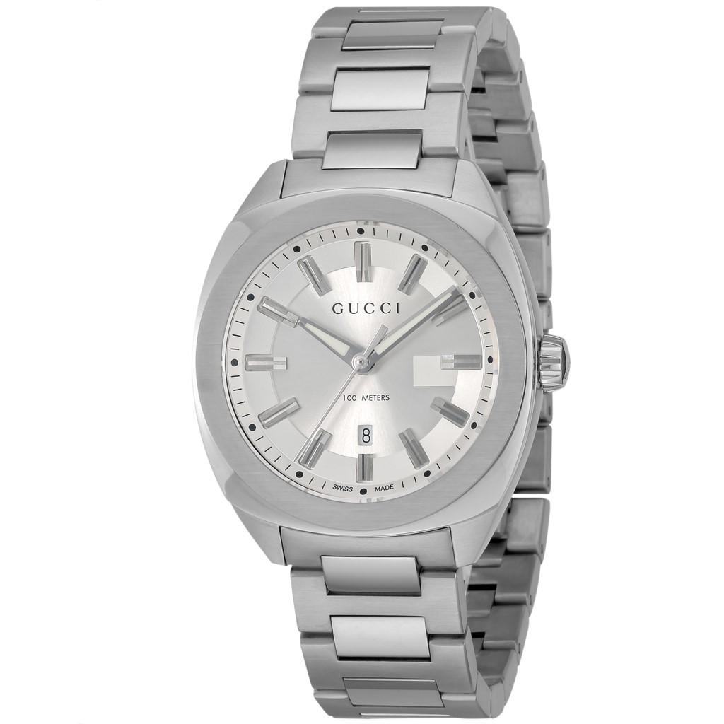 【期間限定ポイント10倍】グッチ 腕時計 メンズ GUCCI GG2570 シルバー YA142402