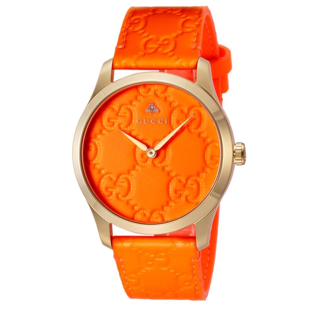 【期間限定ポイント10倍】グッチ 腕時計 レディース GUCCI Gタイムレス オレンジ YA1264116