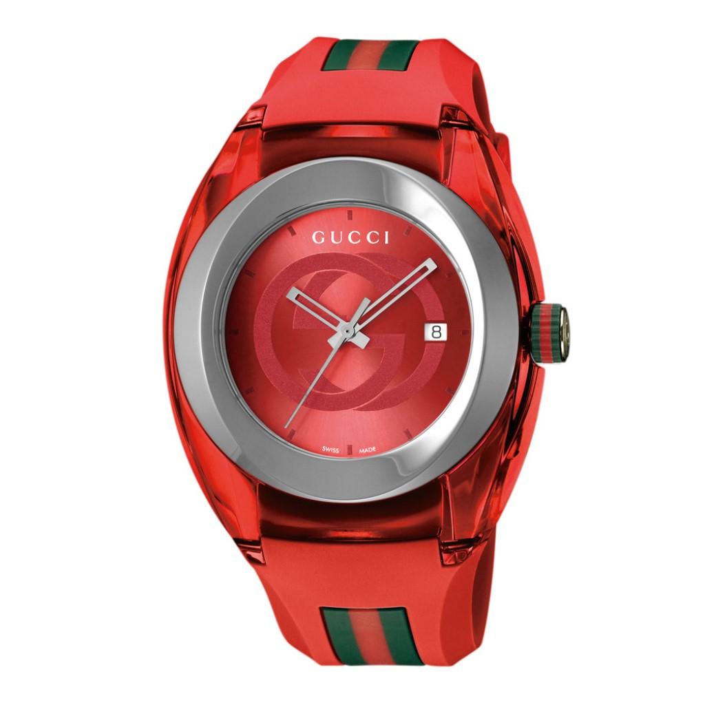【期間限定ポイント10倍】グッチ 腕時計 メンズ GUCCI SYNC レッド YA137103A