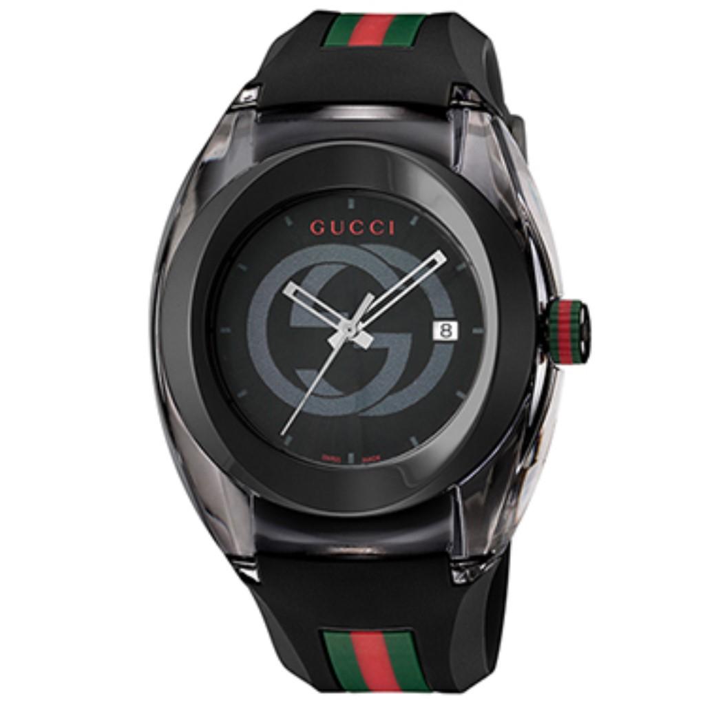 【期間限定ポイント10倍】グッチ 腕時計 メンズ GUCCI SYNC ブラック YA137107A