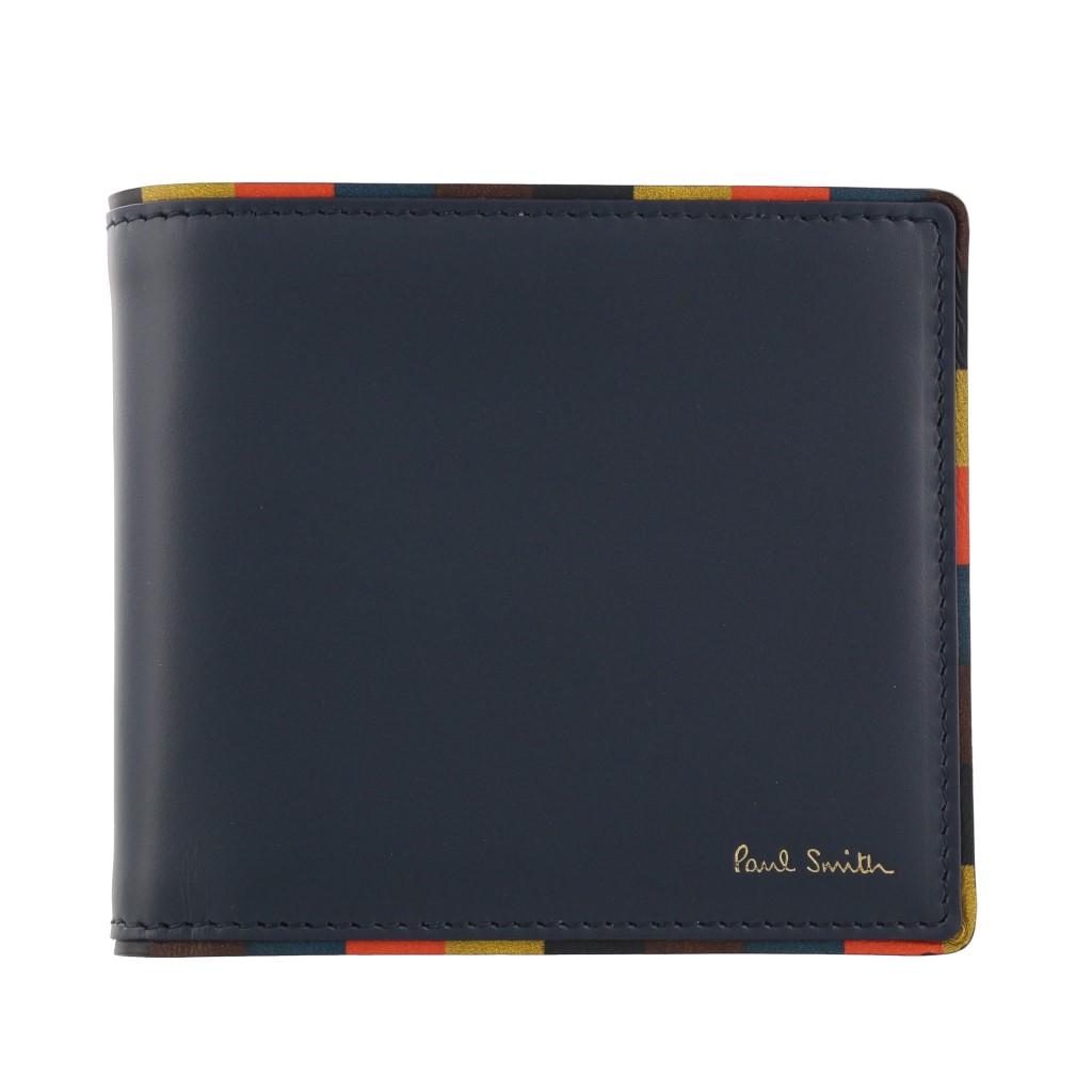Paul Smith ポールスミス 二つ折り財布 メンズ ネイビー M1A4833 AEDGE 48 NAVY BLUE