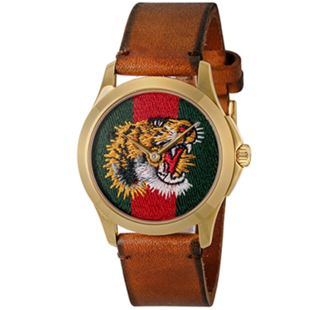 【期間限定ポイント10倍】GUCCI グッチ 腕時計 ユニセックス Gタイムレス グリーン×レッド YA126497