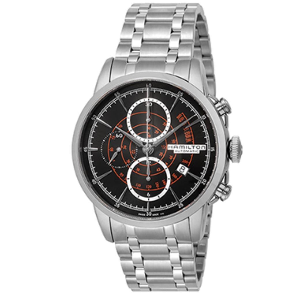 【72時間限定ポイント5倍】HAMILTON ハミルトン 腕時計 メンズ レイルロード ブラック H40656131