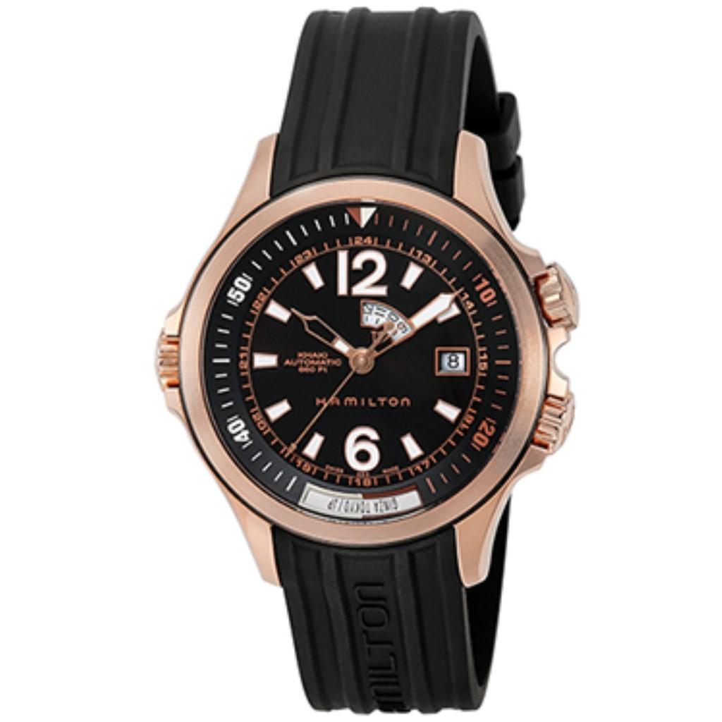 【72時間限定ポイント5倍】HAMILTON ハミルトン 腕時計 メンズ カーキネイビー ブラック H77545735