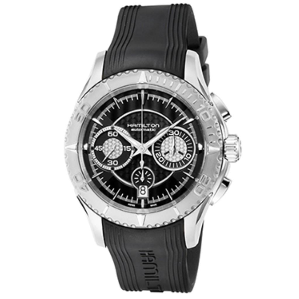 【72時間限定ポイント5倍】HAMILTON ハミルトン 腕時計 メンズ シービュー ブラック H37616331
