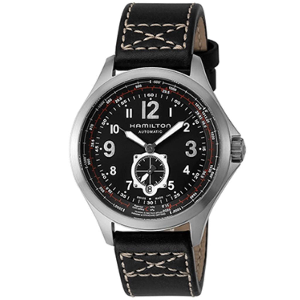 【期間限定ポイント7倍】ハミルトン H76655733 ブラック カーキアビエイション HAMILTON メンズ 腕時計