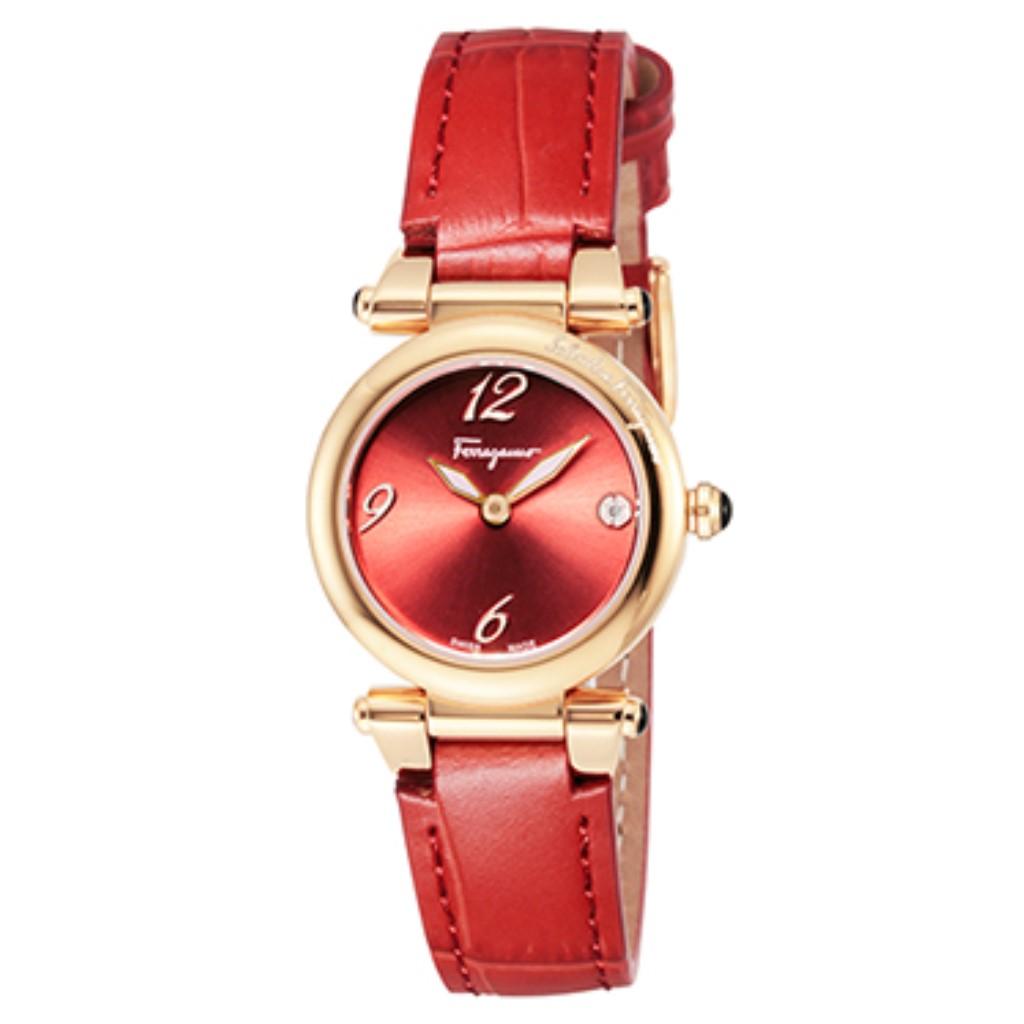 【72時間限定ポイント5倍】Ferragamo フェラガモ 腕時計 レディース IDILLIO レッド SFEY00319