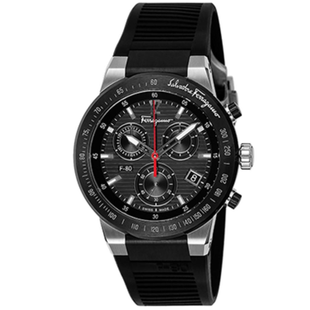 Ferragamo フェラガモ 腕時計 メンズ Fー80 ブラック SFDL00118