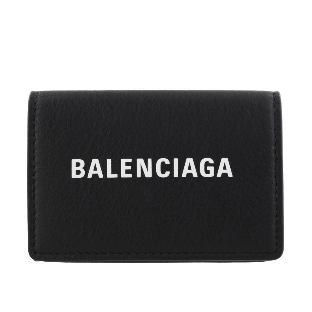 【期間限定ポイント5倍】バレンシアガ BALENCIAGA 三つ折り財布 レディース エブリディ ブラック 505055 DLQHN 1060