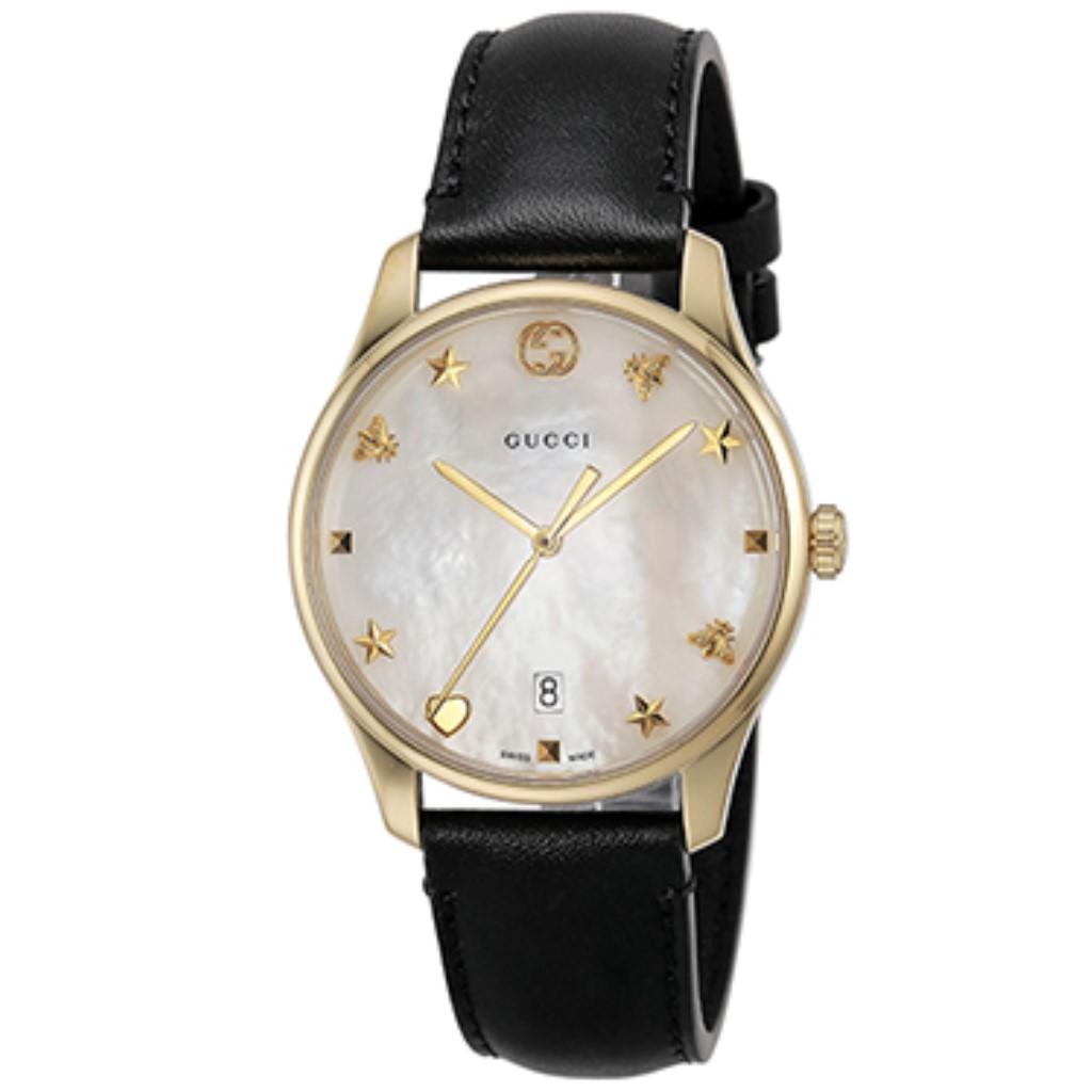 【期間限定ポイント10倍】グッチ 腕時計 レディース GUCCI Gタイムレス ホワイトパール YA1264044