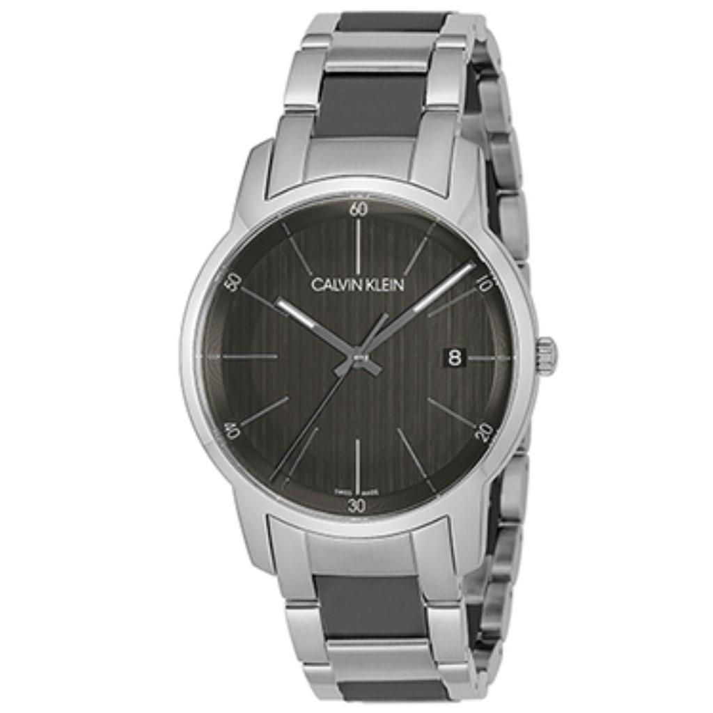 【72時間限定ポイント5倍】【72時間限定ポイント5倍】Calvin Klein カルバンクライン 腕時計 メンズ シティ グレー K2G2G1.P4