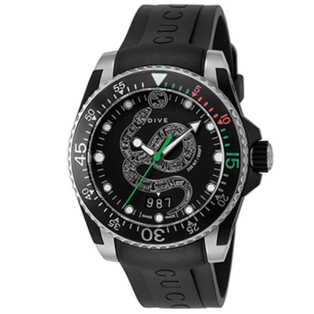 【期間限定ポイント10倍】グッチ 腕時計 メンズ GUCCI ダイブ ブラック YA136323