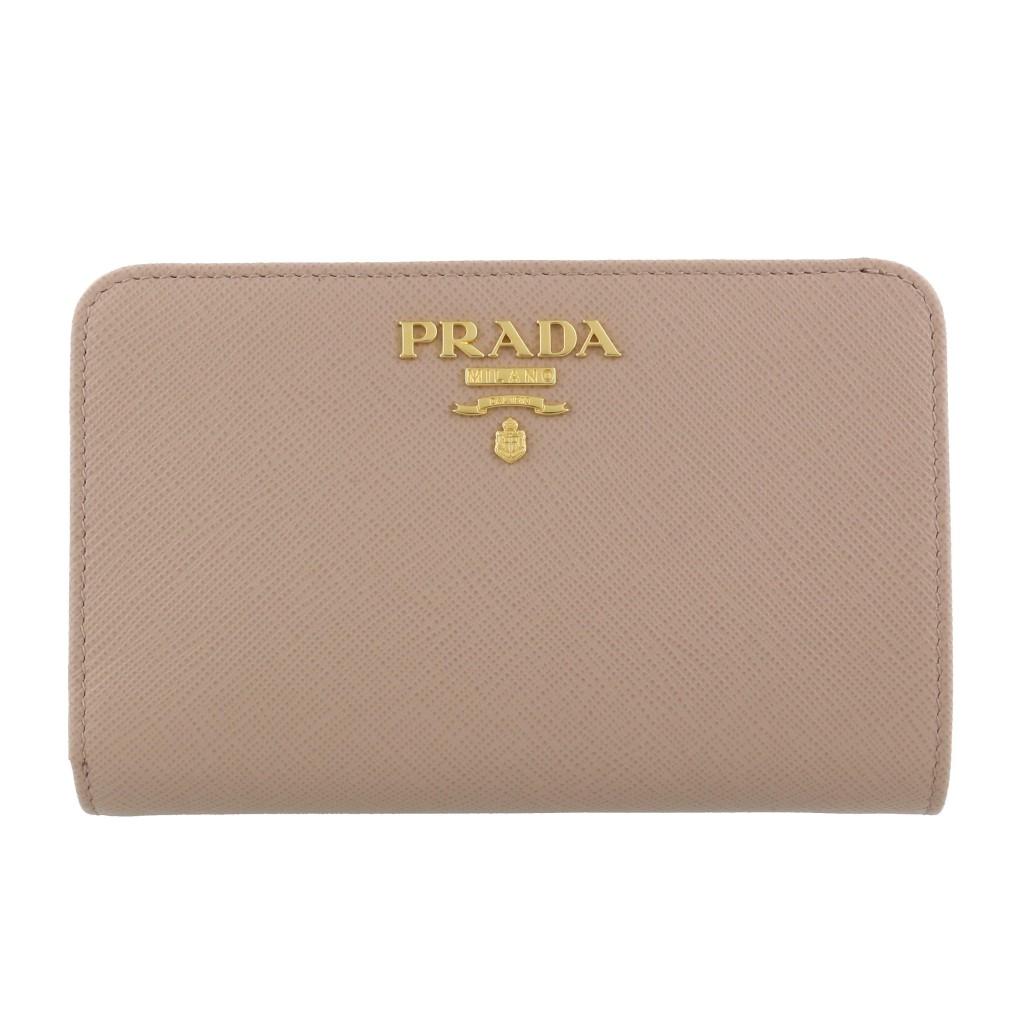 PRADA プラダ 二つ折り財布 レディース ベージュ 1ML225 QWA F0236 CIPRIA