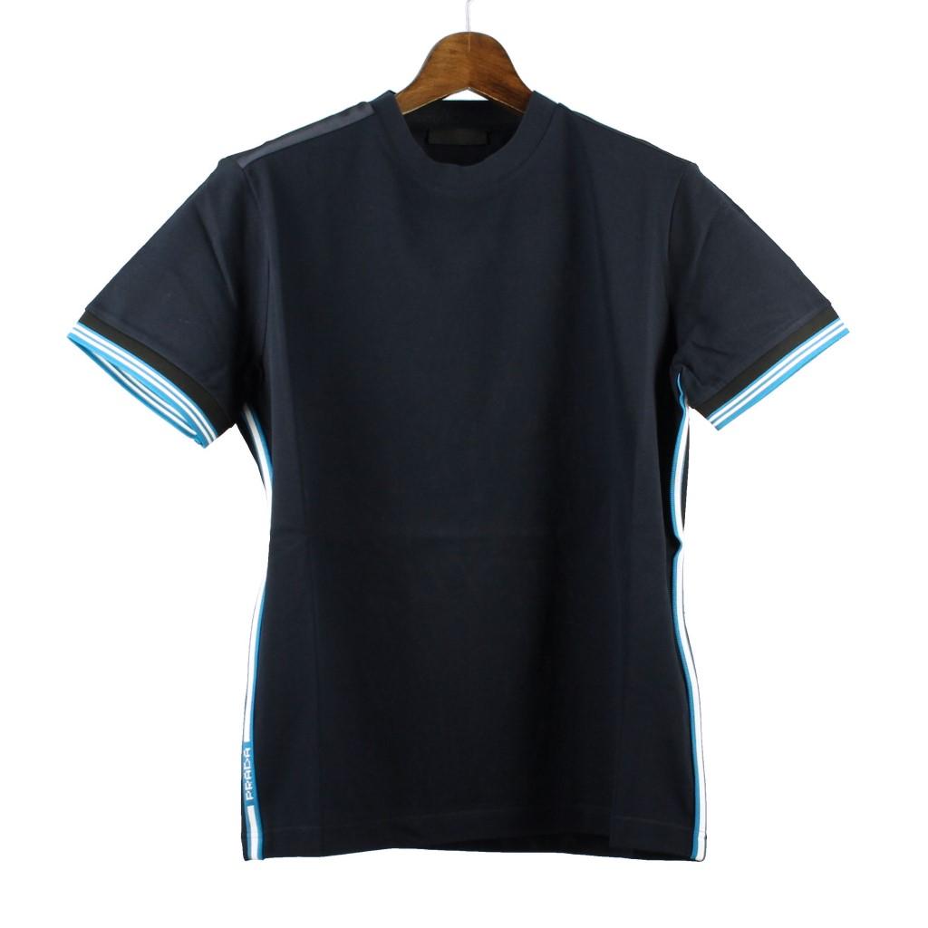 【期間限定ポイント10倍】プラダ PRADA Tシャツ メンズ Mサイズ ネイビー UMA972 S 1S8H F0124 NAVY