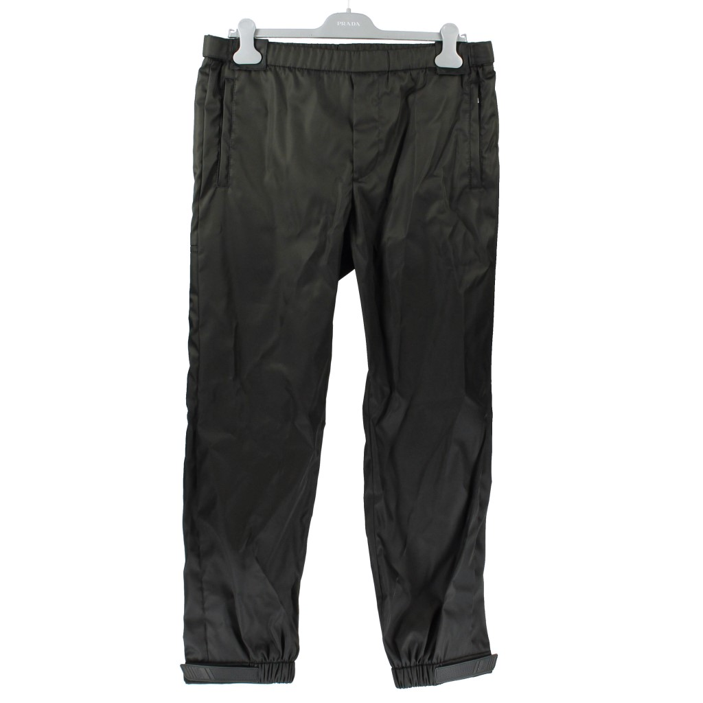 【期間限定ポイント10倍】プラダ PRADA パンツ メンズ 48 GABARDINE NYLON ブラック SPG69 I18 F0002 NERO