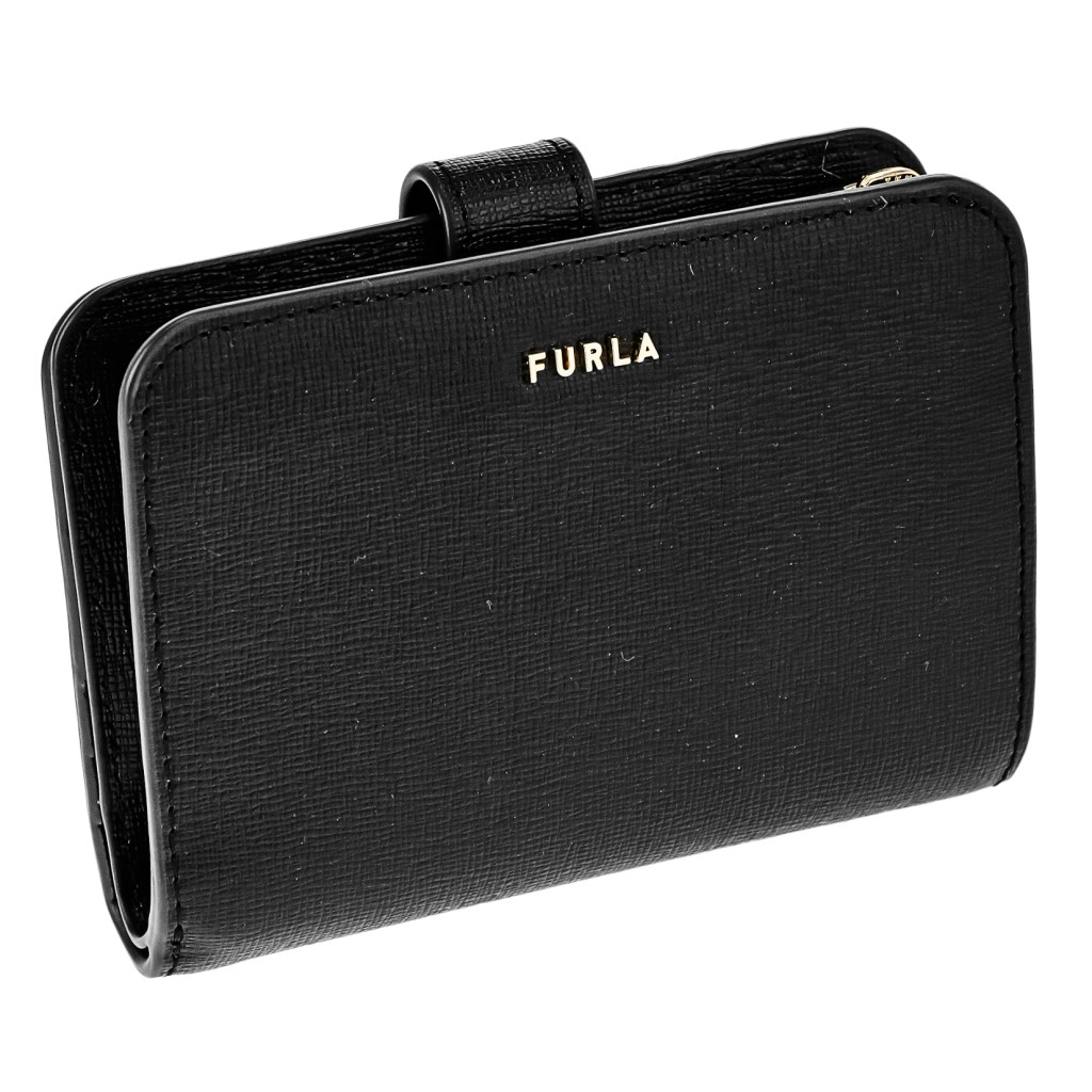 FURLA フルラ 二つ折り財布 レディース バビロン BABYLON ブラック 1057122 NERO