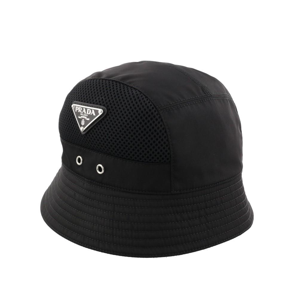【期間限定ポイント10倍】プラダ 帽子 メンズ PRADA ブラック 2HC194ERZ F0002 NERO