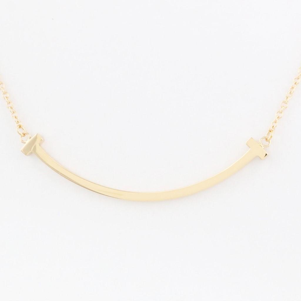 Tiffany&Co. ティファニー ネックレス レディース Tスマイル ミニ ローズゴールド 35189432