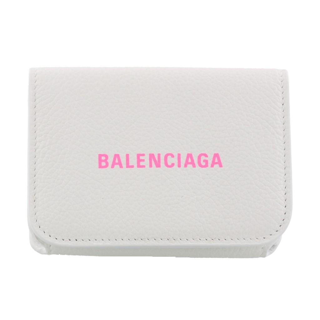 【期間限定ポイント5倍】バレンシアガ 三つ折り財布 BALENCIAGA レディース ホワイト 593813 1IZF3 9066 BLANC/FLUO PINK 【newit0】