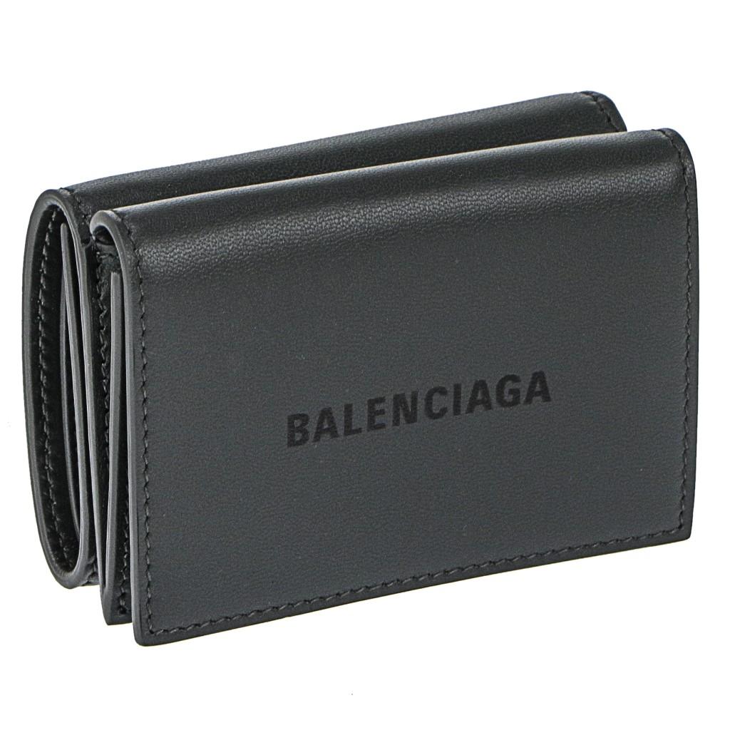 BALENCIAGA バレンシアガ 三つ折り財布 メンズ グレー 594312 1I313 1360 GRIS ACIER/NOIR