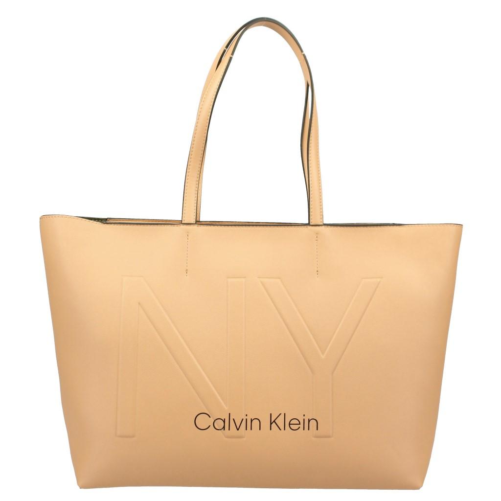【期間限定ポイント10倍】カルバンクライン Calvin Klein トートバッグ レディース K60K606181 DARK SAND