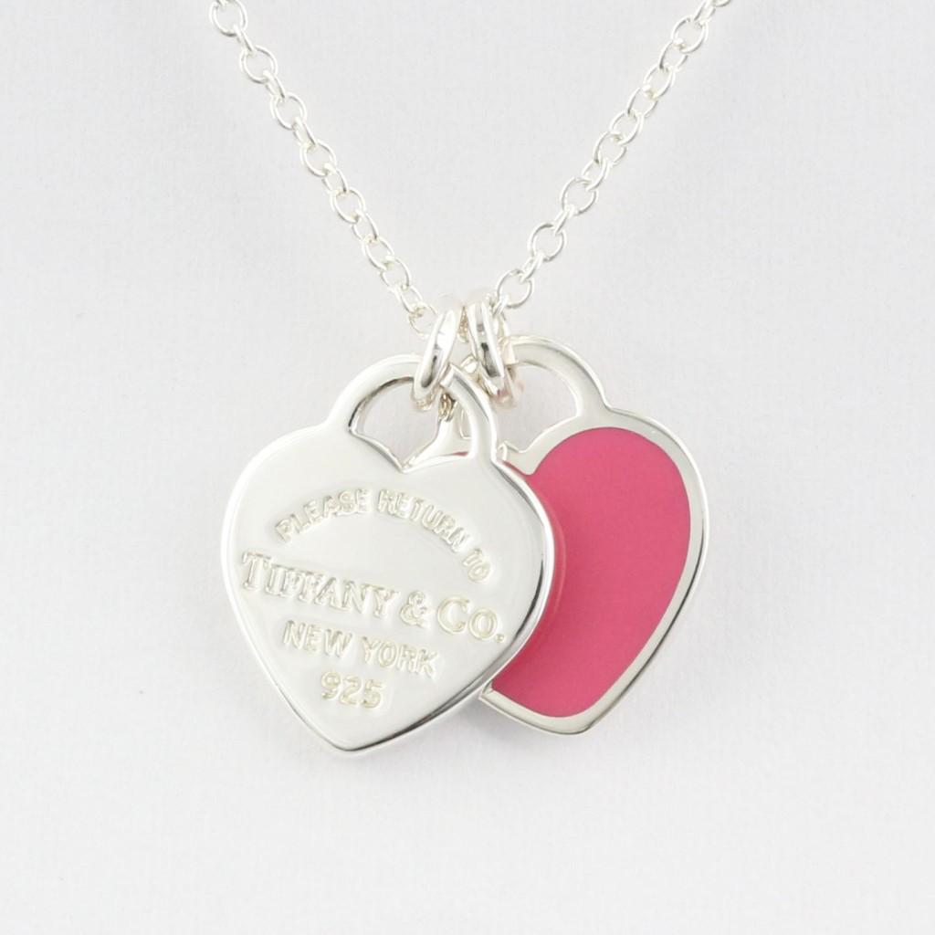 Tiffany&Co. ティファニー ネックレス レディース シルバー/ピンク 63520578