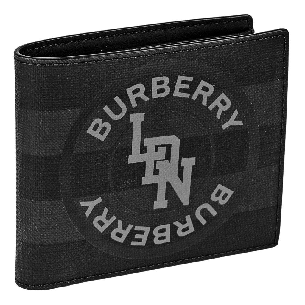 【期間限定ポイント10倍】BURBERRY バーバリー 二つ折り財布 メンズ グレー 8022553 A1483 DARK CHARCOAL