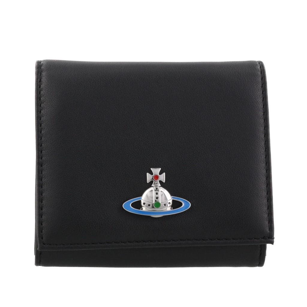 【期間限定ポイント10倍】Vivienne Westwood ヴィヴィアンウエストウッド 二つ折り財布 ブラック 51150005 EMMA N409 BLACK