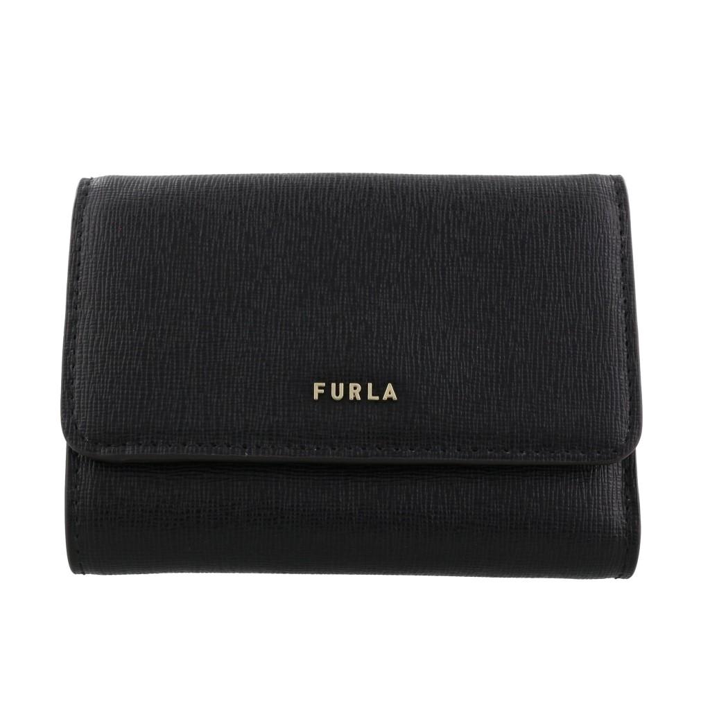FURLA フルラ 三つ折り財布 レディース バビロン ブラック 1056950 PCZ0 O60 NERO