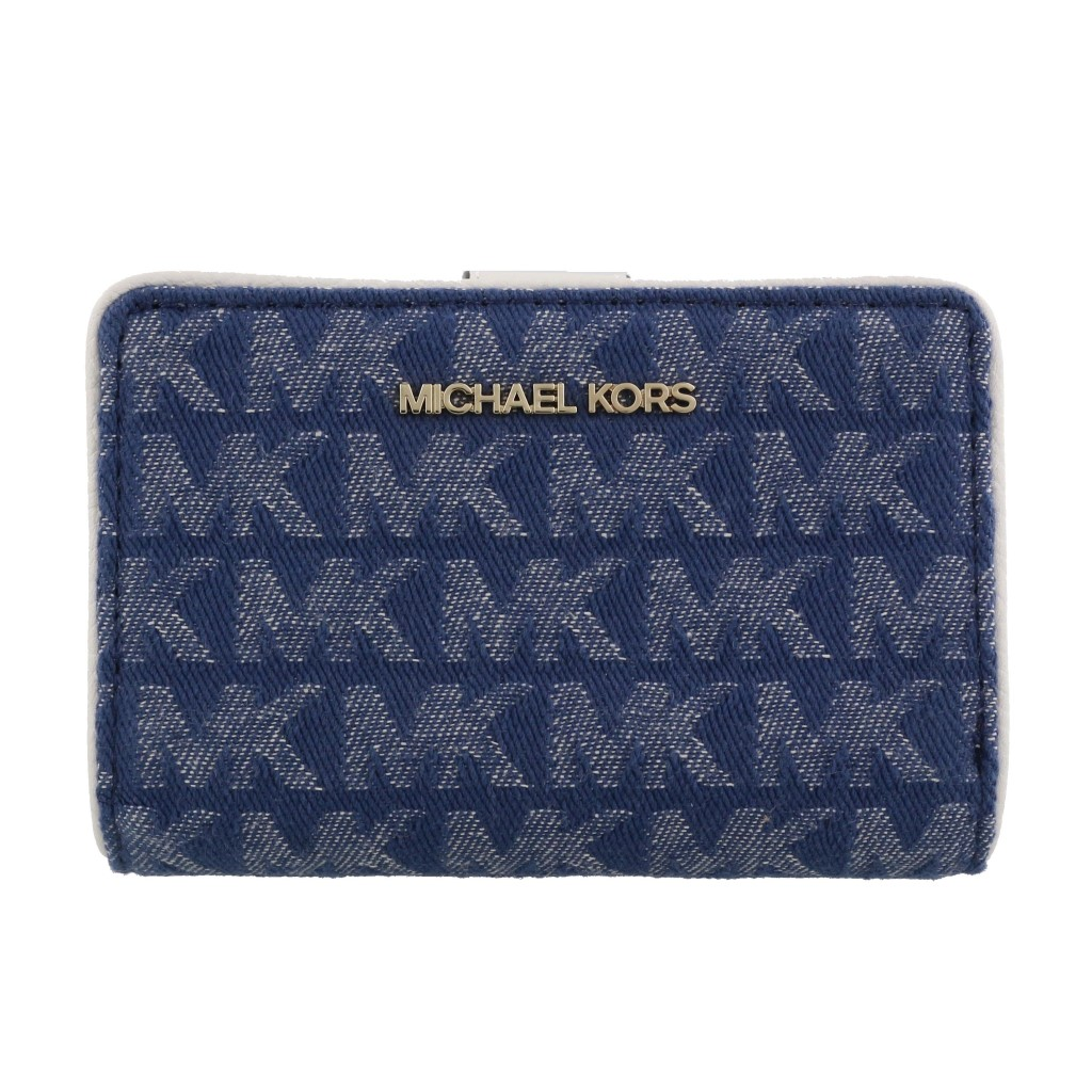 MICHAEL KORS マイケルコース 二つ折り財布 レディース デニム 35S0GTVF6C DENIM