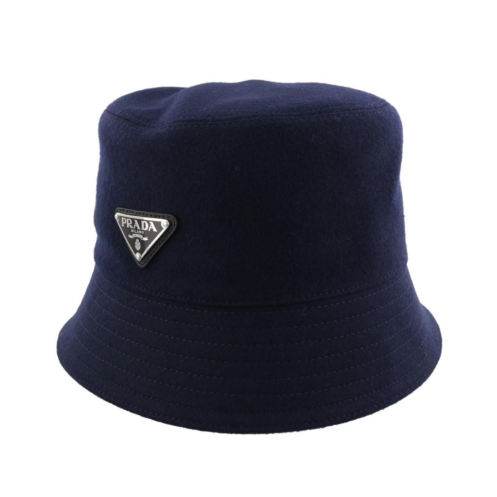 PRADA プラダ 帽子 メンズ AUTHENTIC LODEN ネイビー 2HC137 1UMT F0124 NAVY