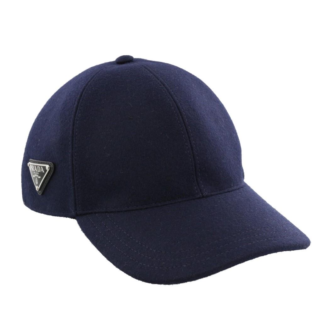 PRADA プラダ 帽子 メンズ AUTHENTIC LODEN ネイビー 2HC274 1UMT F0124 NAVY