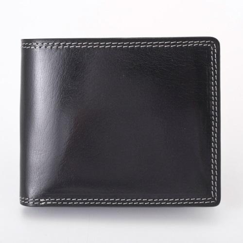 Pomerance ポメランジェ 二つ折り財布 メンズ ベビーバッファロー レザー BF02 ブラック