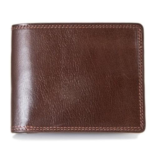 Pomerance ポメランジェ 二つ折り財布 メンズ ベビーバッファロー レザー BF02 ブラウン