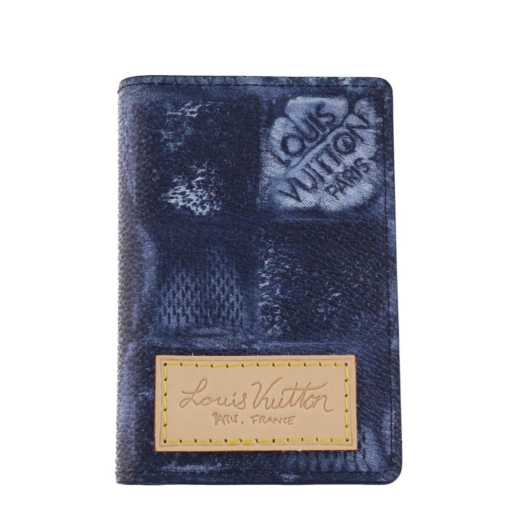 送料無料 LOUIS VUITTON ルイヴィトン 名刺入れ カードケース 高級品 オーシャンブルー 春の新作シューズ満載 ポッシュ N60465 ドゥ オーガナイザー