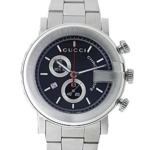 GUCCI Gucci YA101309 # 101 chronograph black mens