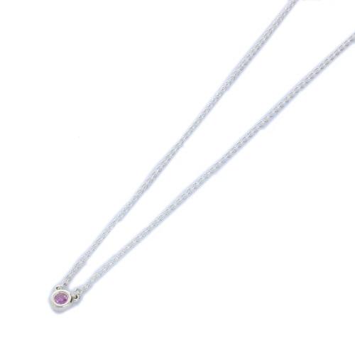 Tiffany&Co. ティファニー バイザヤード ピンクサファイヤ0.08ct ペンダント 25390474