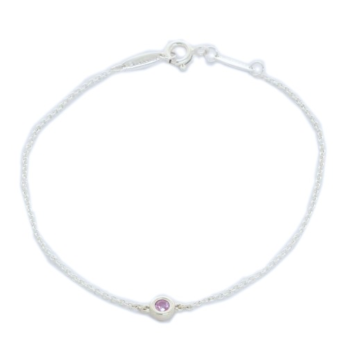 Tiffany&Co. ティファニー ブレスレット バイザヤード ピンクサファイヤ0.08ct 25392906